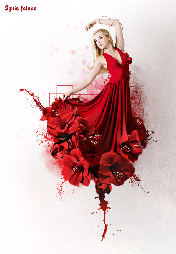 фото девушка в красном сарафане